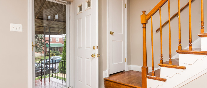 entryway of parkville home for sale