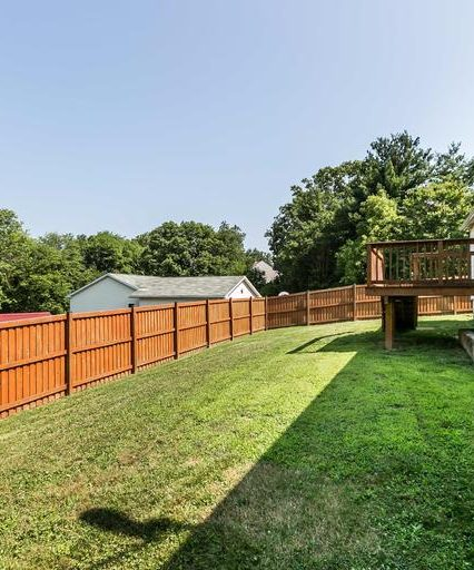 8944 Satyr Hill Rd. fenced back yard