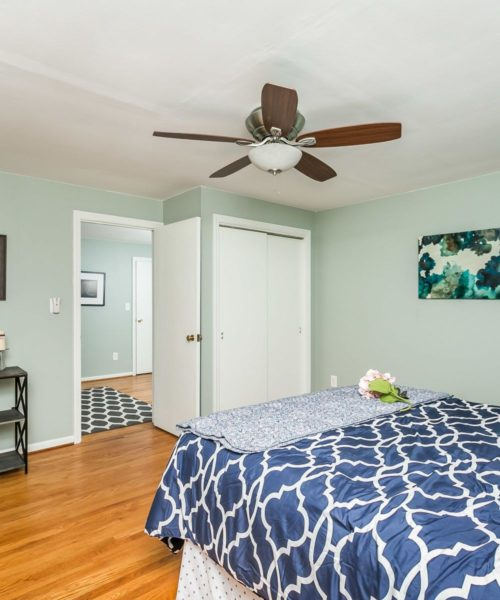 4416 Springwood Ave. master bedroom with ceiling fan