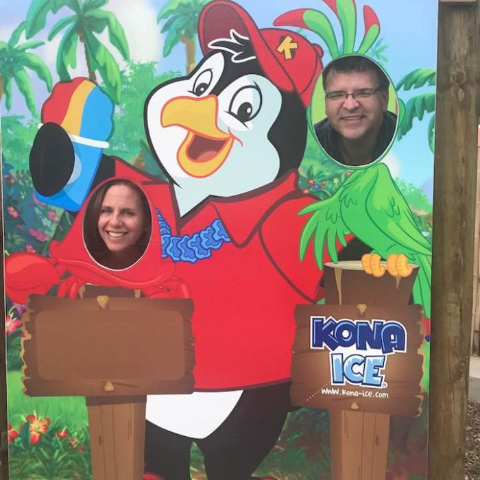 Kona Ice, crabby and parrot face