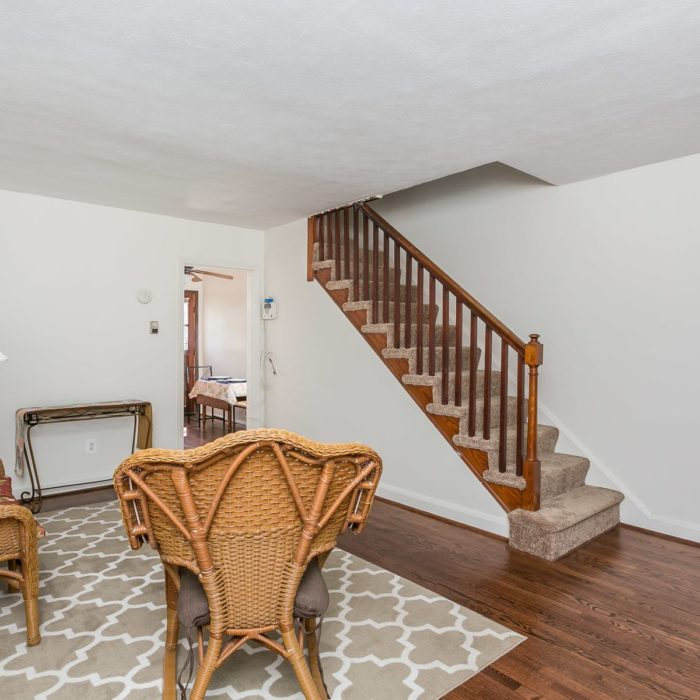 3920 Wilke Avenue living room with stairs