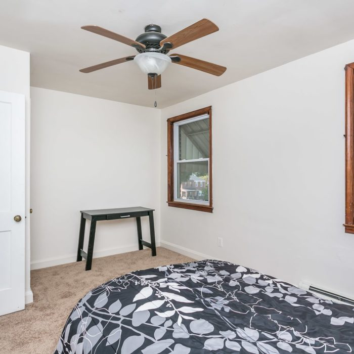 3920 Wilke Avenue bedroom with ceiling fan