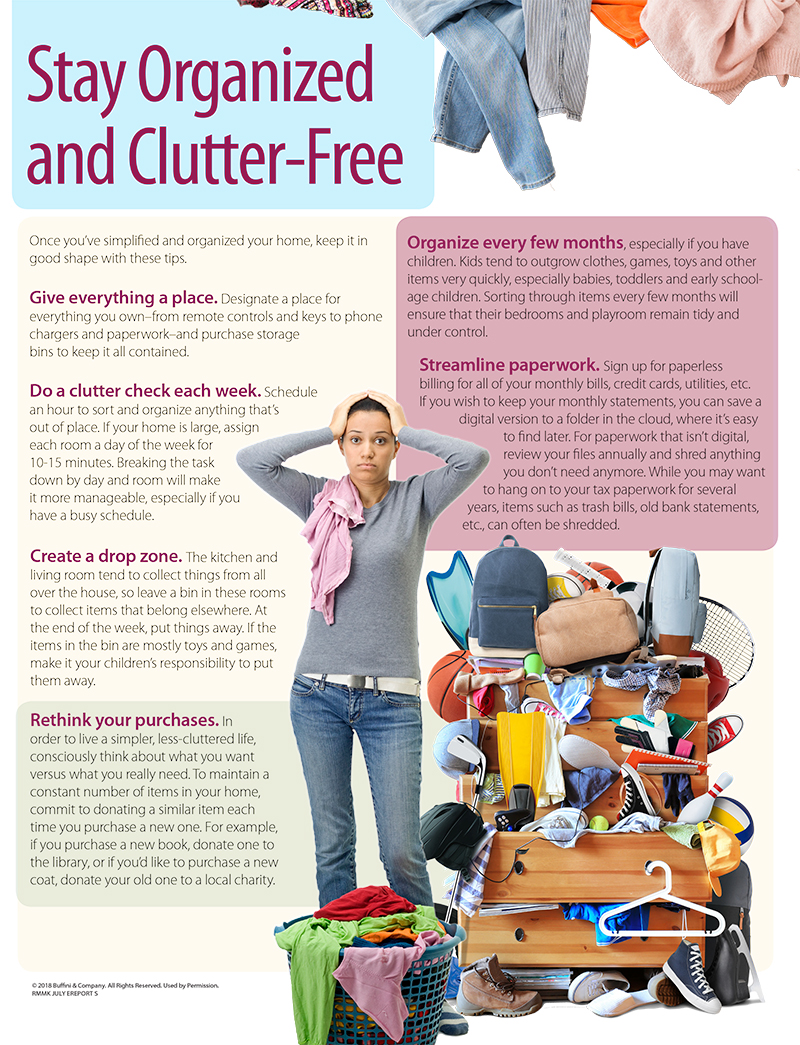 stay organized and clutter free