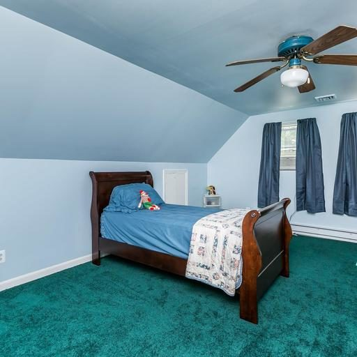 302 Breslin Rd.  third bedroom with ceiling fan
