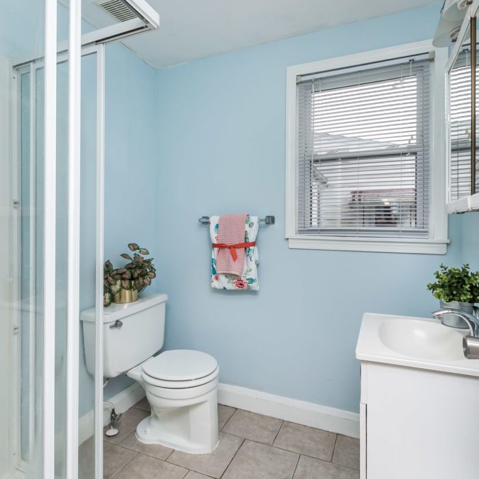 34 Elinor Ave. bathroom in pale blue
