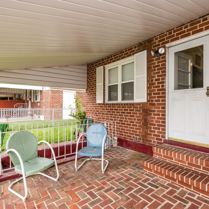 7830 Charlesmont Rd. back brick patio covered