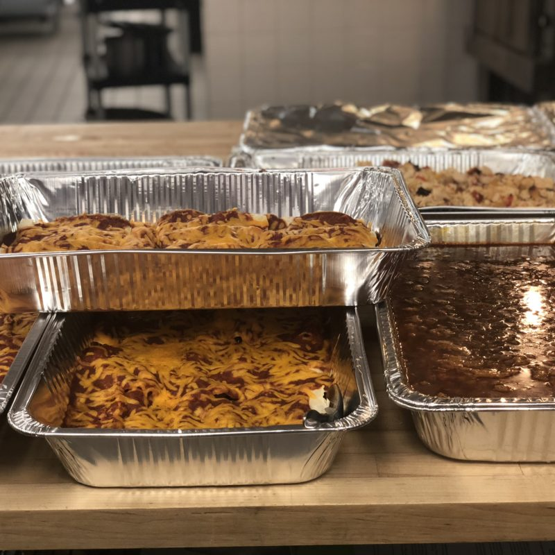 Feed the Community, enchiladas and chili