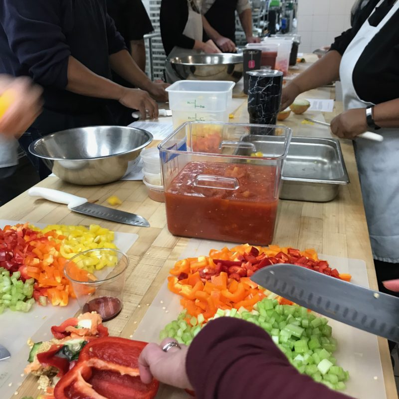 Feed the Community – people with no experience have learned to cook