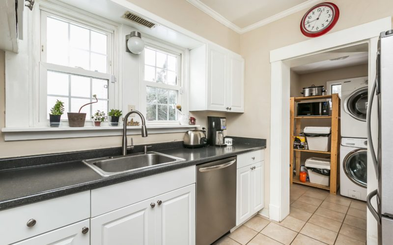 5804 Clearspring Road, kitchen sink and view of washer/dryer