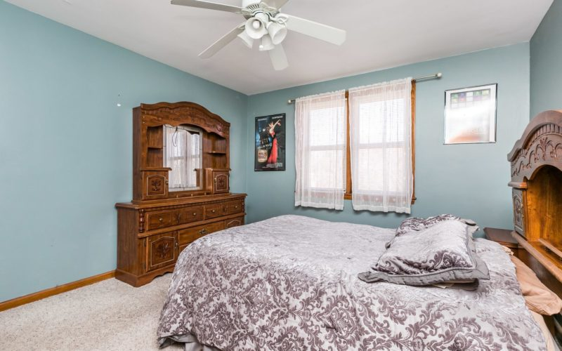 3501 Northway Drive, bedroom with ceiling fan