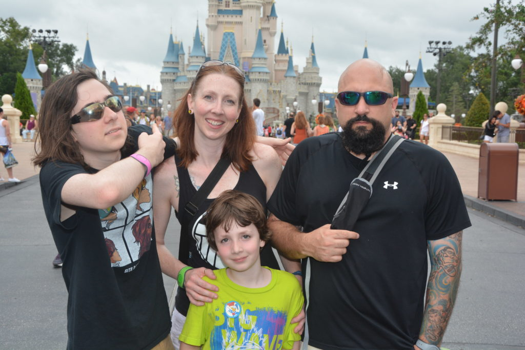 The Vedral family goes to Disney