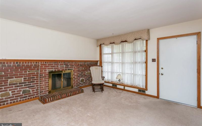 719 50th Street living room with fireplace