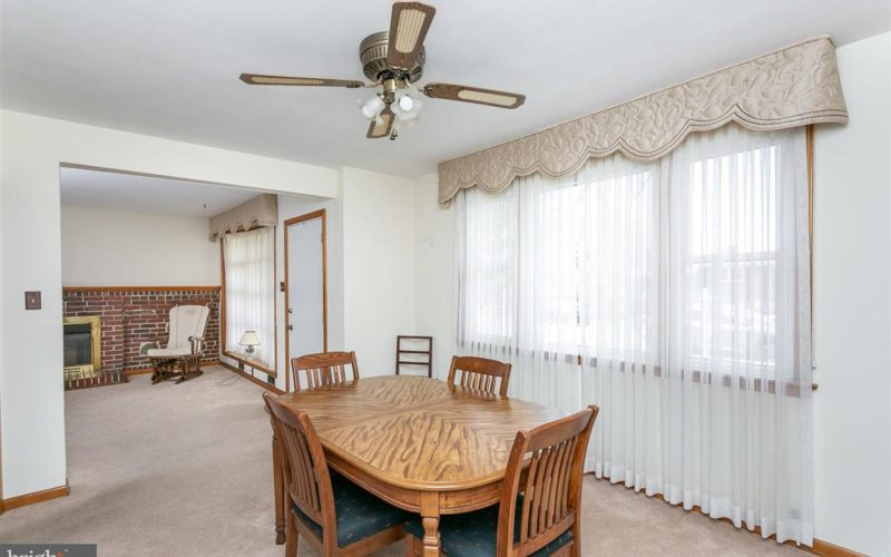 719 50th Street, dining room with ceiling fan