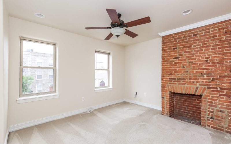 2012 Gough Street, first bedroom with ceiling fan