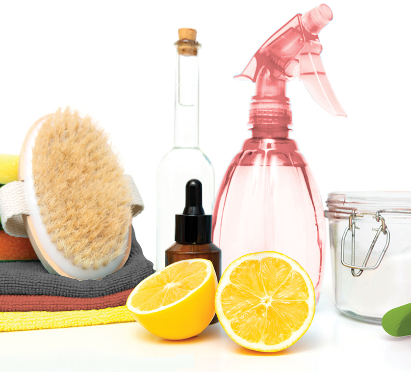 Clean your home naturally by creating your own cleaning products.