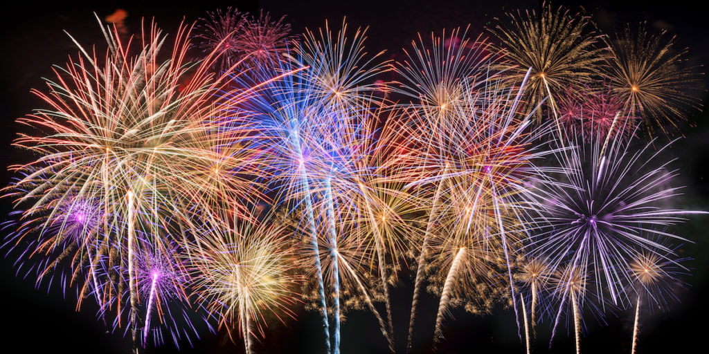 July events - fireworks all over town