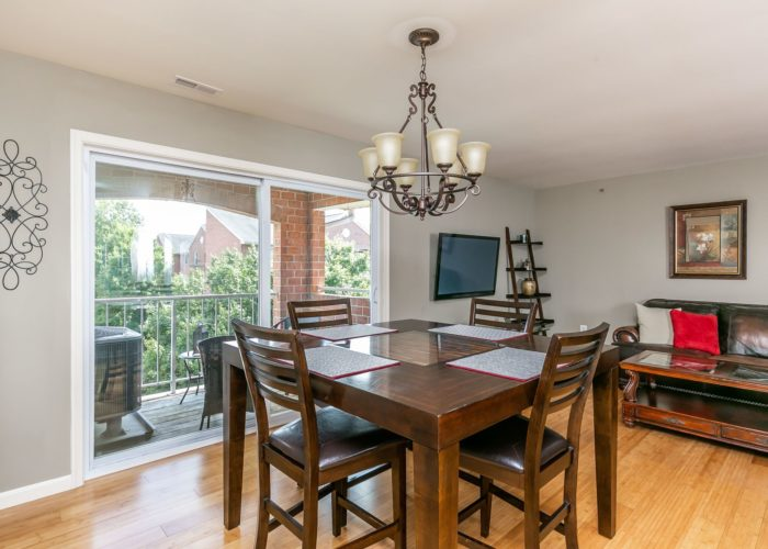 4102 Chardel Rd., dining room with view of balcony