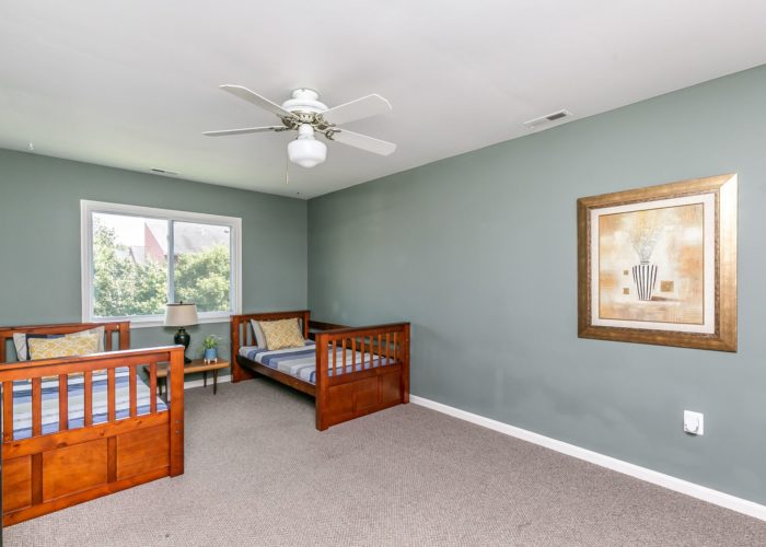 4102 Chardel Rd., bedroom 2 with ceiling fan