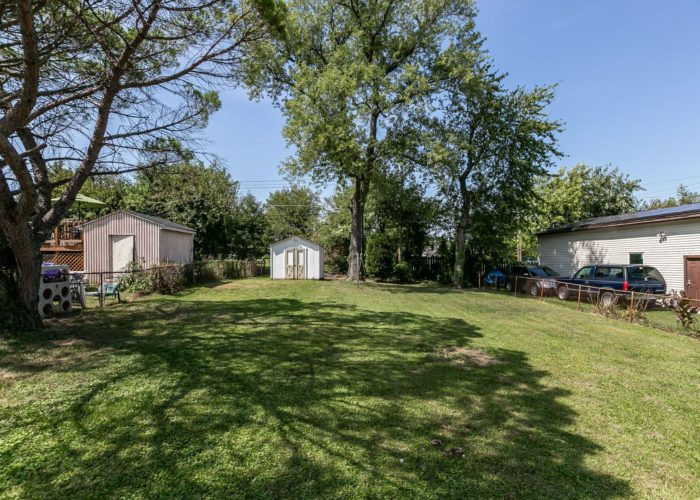 6536 Corkley Road, lawn with fenced yard