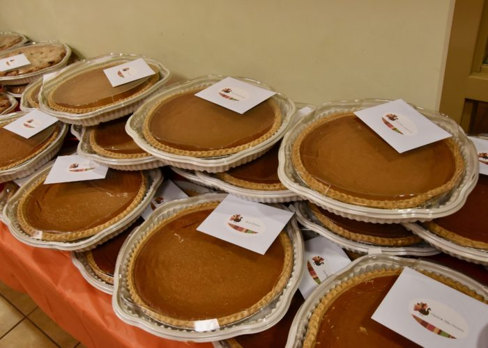 2019 Pie Party, sea of pumpkin pies