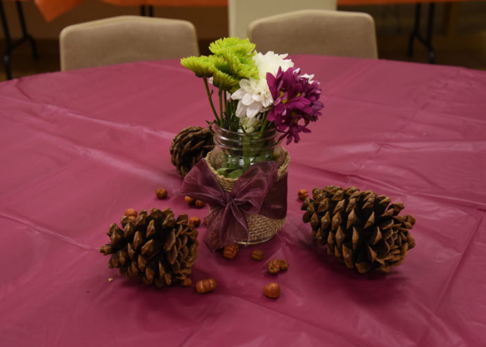 2019 Pie Party, centerpieces