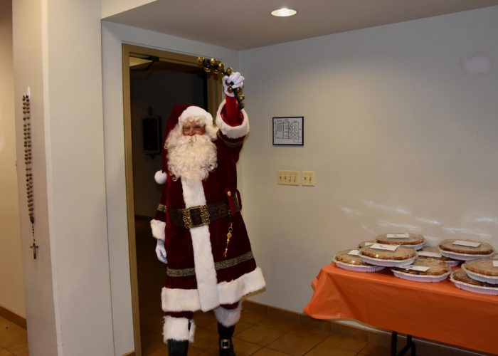 2019 Pie Party, Santa has arrived!