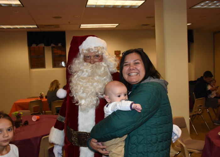 2019 Pie Party, babies love Santa