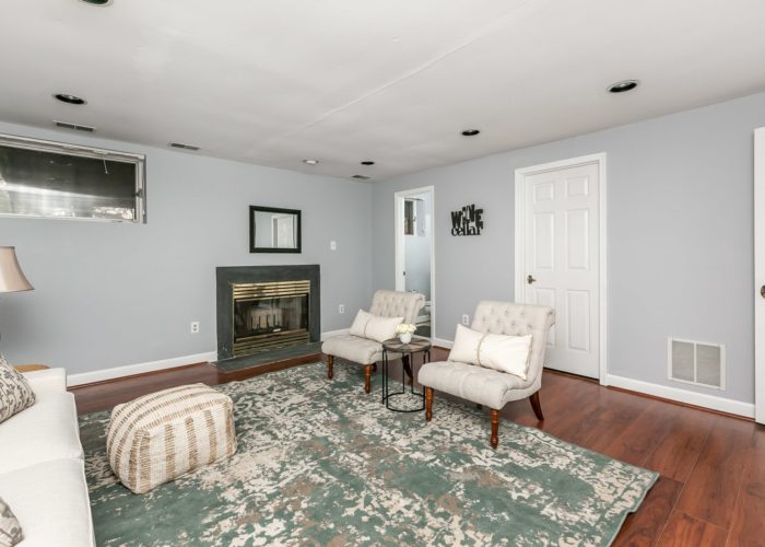 25 Stablemere Ct., living room with fireplace