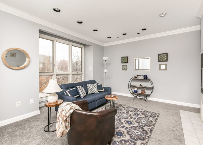 25 Stablemere Ct., rec room with fireplace