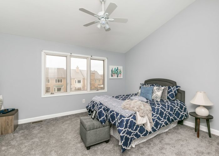 25 Stablemere Ct., bedroom with ceiling fan