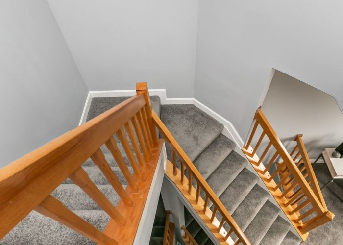 25 Stablemere Ct., bird's eye view of stairs