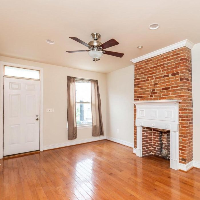 Home sales, ceiling fan and fireplace