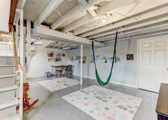 3349 Acton Road, basement play area with hammock