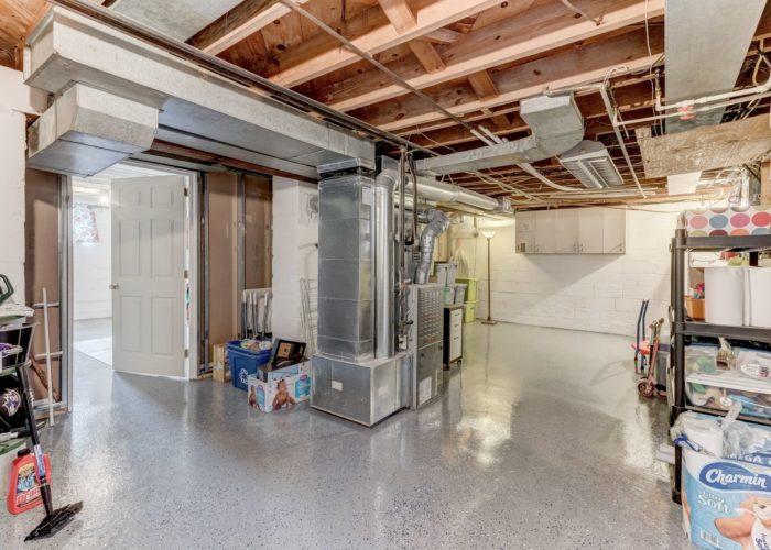 3349 Acton Road, basement with furnace and storage