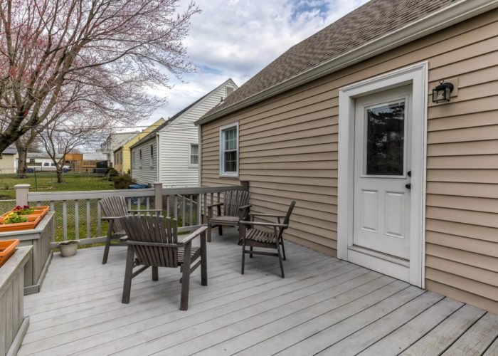 3349 Acton Road, deck with raised flowerbeds