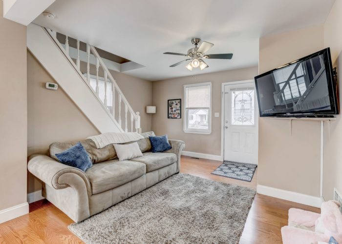552 W. Woodlynn Road, living room and stairs