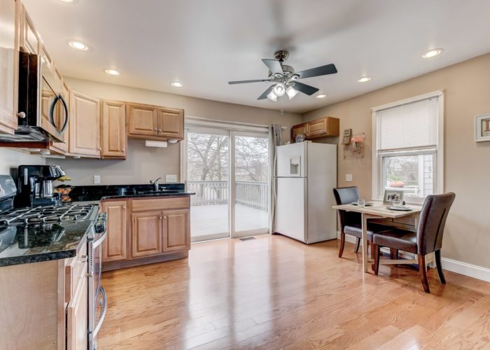 552 W. Woodlynn Road, large kitchen with hardwood floors