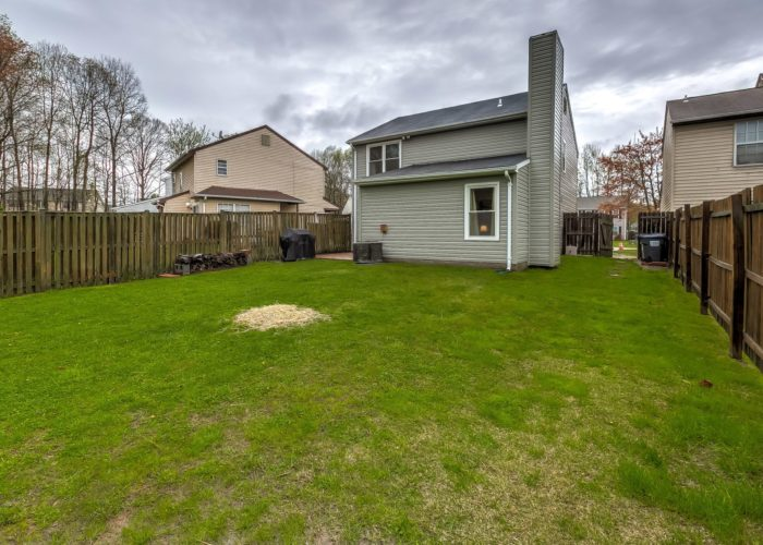 3009 Lilac Court, back yard with view of house