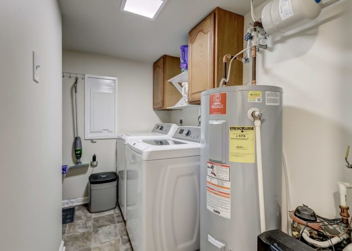 3009 Lilac Court, laundry room and hot water heater
