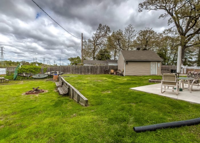 8134 Bullneck Road, back patio with lots of space for the kiddos