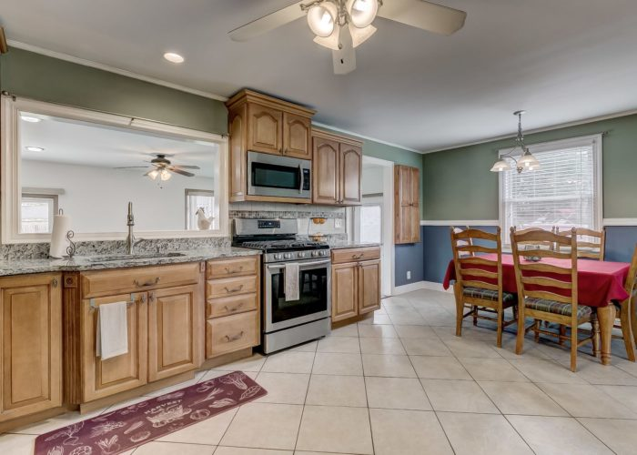 8134 Bullneck Road, dining area and kitchen