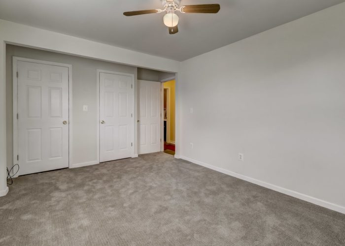 8134 Bullneck Road, bedroom with gray carpeting