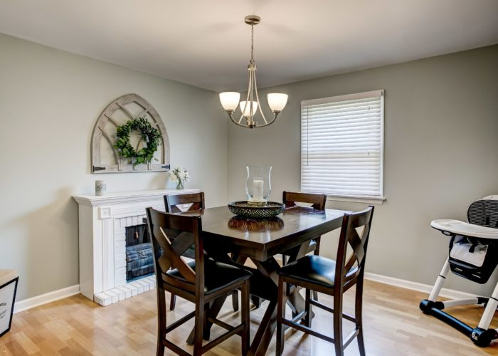 3 Hoff Court, dining room with light fixture