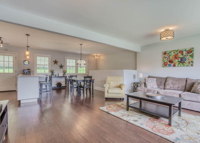 1417 Buckthorn Drive, living room, dining room and kitchen areas