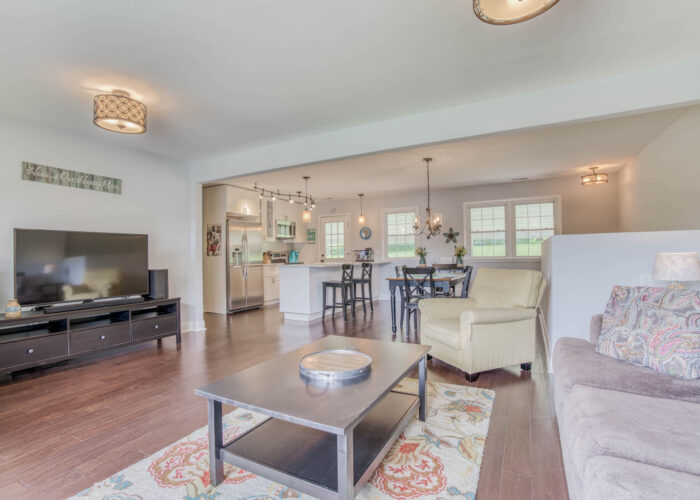 1417 Buckthorn Drive, living room with a view of the dining room and kitchen