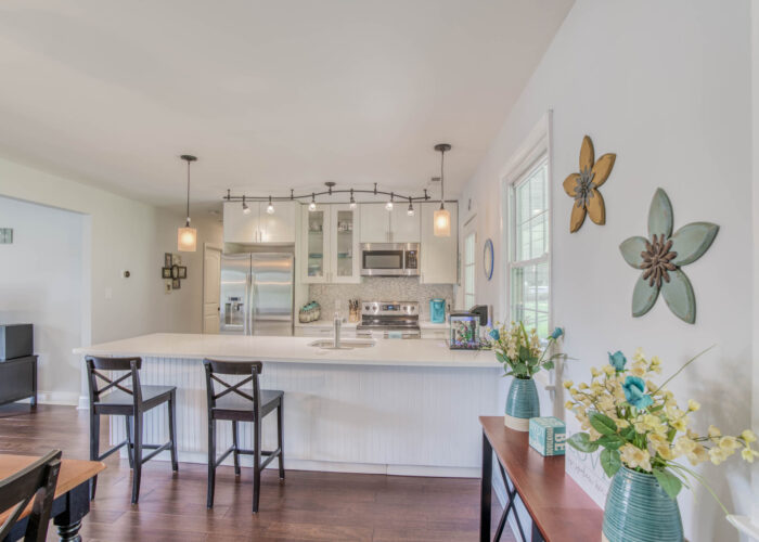 1417 Buckthorn Drive, wide view of kitchen from dining room