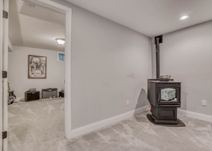 1417 Buckthorn Drive, lower level pellet stove