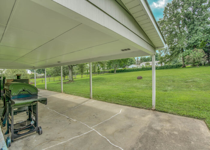 1417 Buckthorn Drive, covered patio view of yard