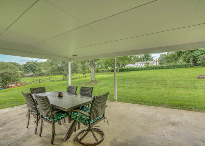 1417 Buckthorn Drive, covered patio in back