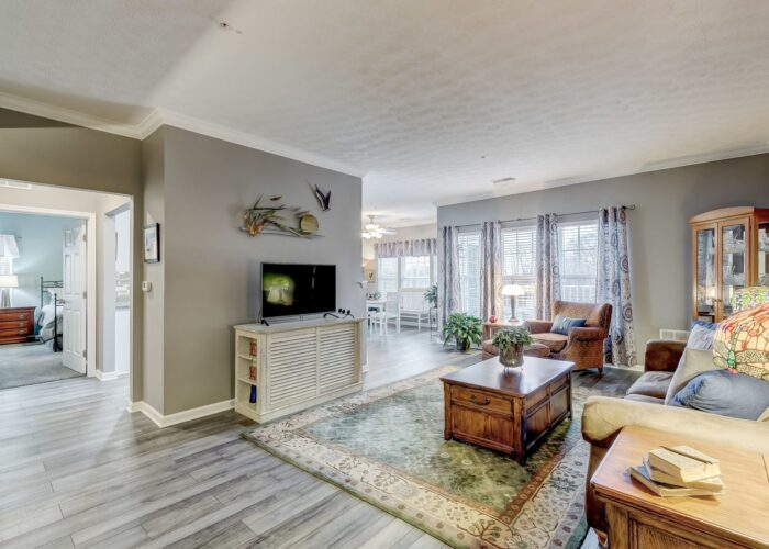 9505 Kingscroft Terrace #M, living room with view of bedrooms